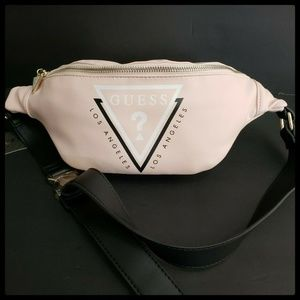 Guess Woman Fanny Pack Waist Pack Logo Front